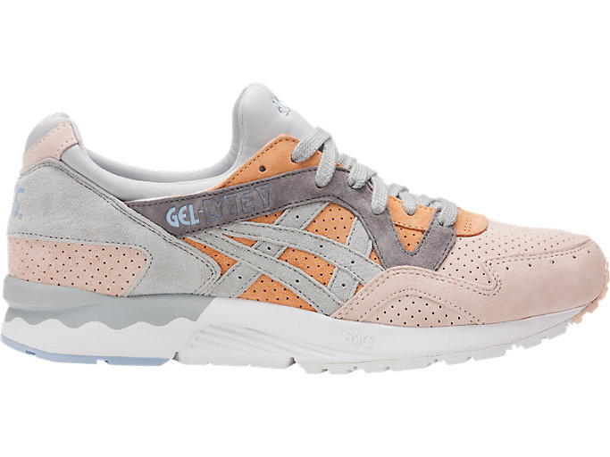 Right side view of GEL-LYTE V, APRICOT NECTAR/MID GREY