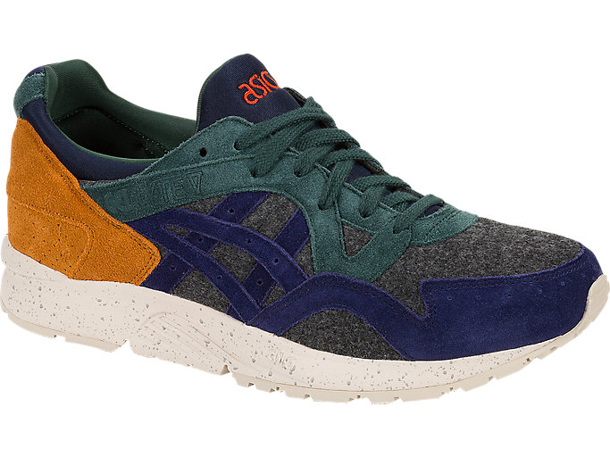 Front Right view of GEL-LYTE V, DARK GREY/PEACOAT