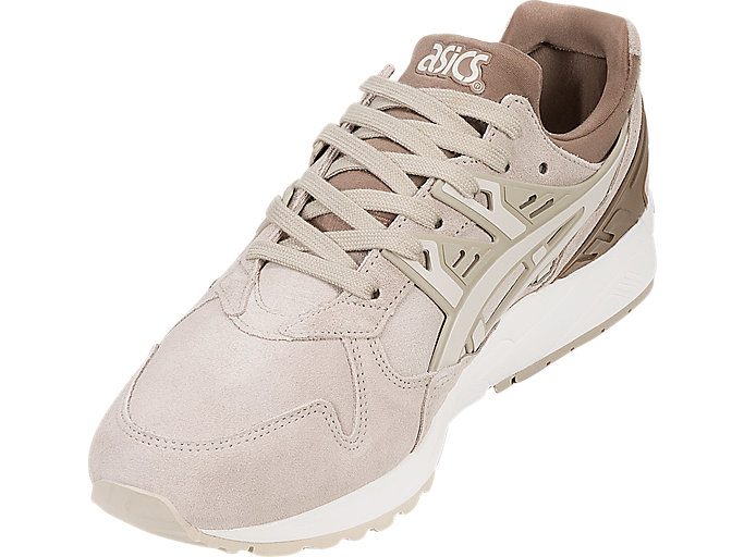 Front Left view of GEL-KAYANO TRAINER, FEATHER GREY/BIRCH