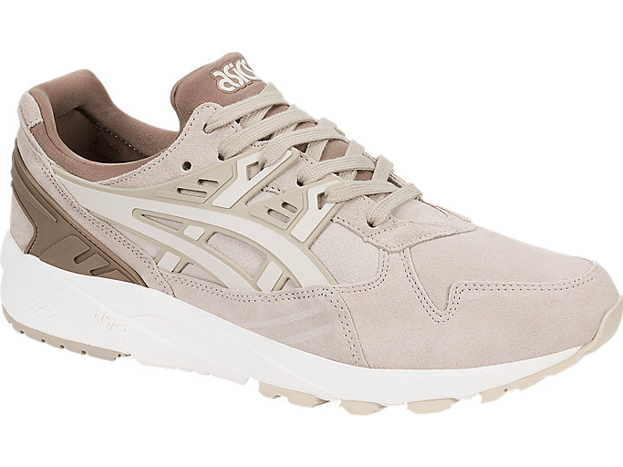 Front Right view of GEL-KAYANO TRAINER, FEATHER GREY/BIRCH