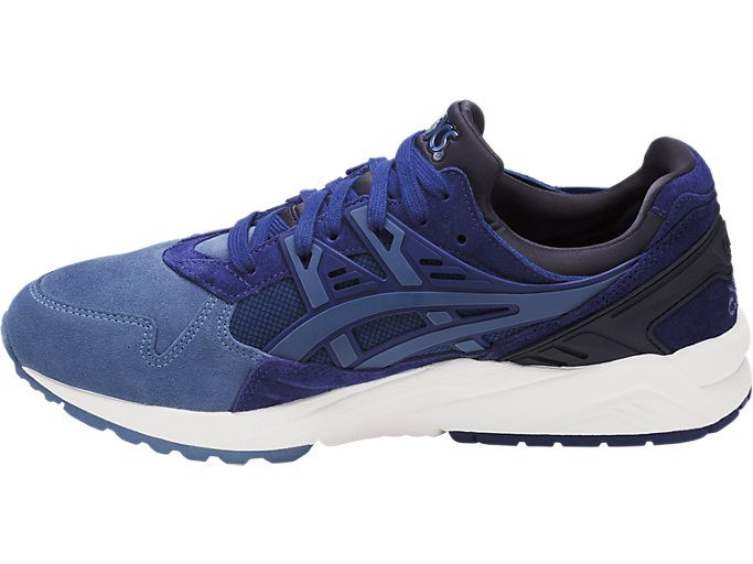 Left side view of GEL-KAYANO TRAINER, NAVY PEONY/PIGEON BLUE