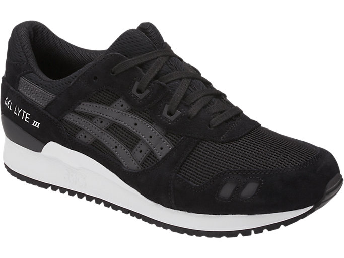 Front Left view of GEL-LYTE III, BLACK/BLACK