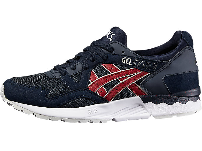 Front Right view of GEL-LYTE V, INDIA INK/BURGUNDY