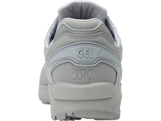 Back view of GEL-KAYANO TRAINER, MID GREY/MID GREY
