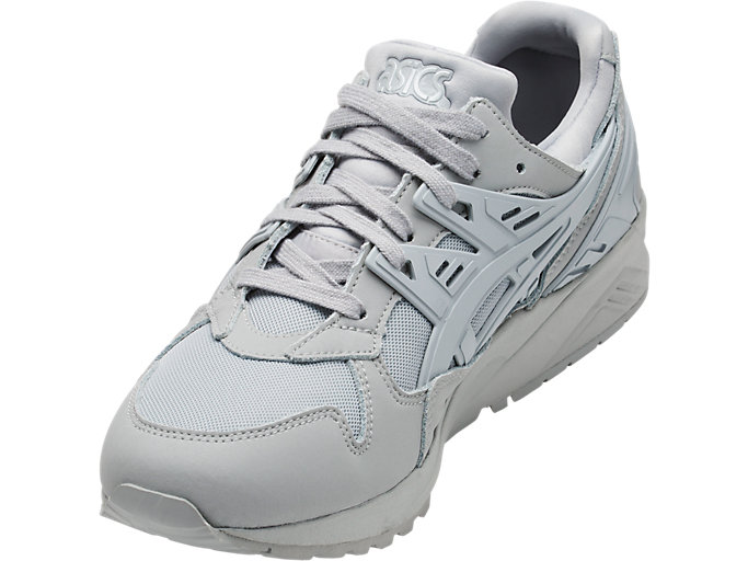 Front Left view of GEL-KAYANO TRAINER, MID GREY/MID GREY