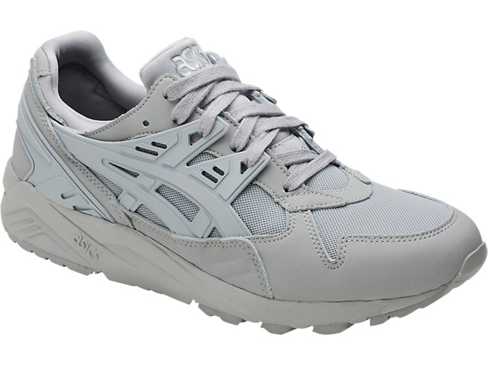 Front Right view of GEL-KAYANO TRAINER, MID GREY/MID GREY