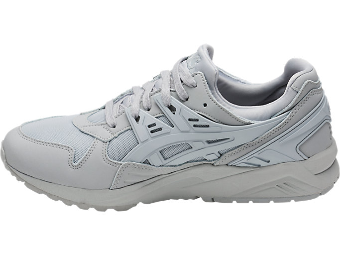 Left side view of GEL-KAYANO TRAINER, MID GREY/MID GREY