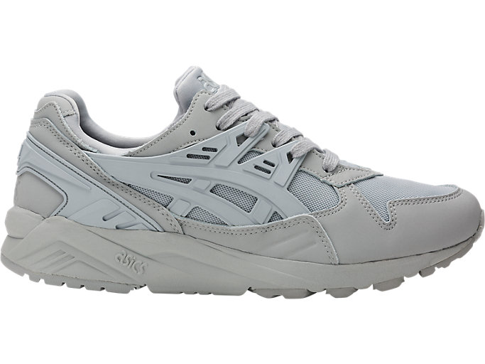 Right side view of GEL-KAYANO TRAINER, MID GREY/MID GREY