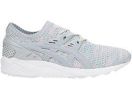Right side view of GEL-KAYANO TRAINER KNIT, Glacier Grey/Mid Grey