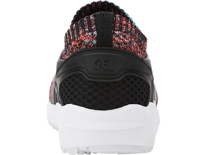 Back view of GEL-KAYANO TRAINER KNIT, CARBON/BLACK