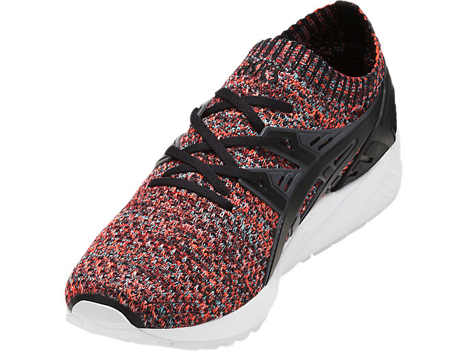 Front Left view of GEL-KAYANO TRAINER KNIT, CARBON/BLACK