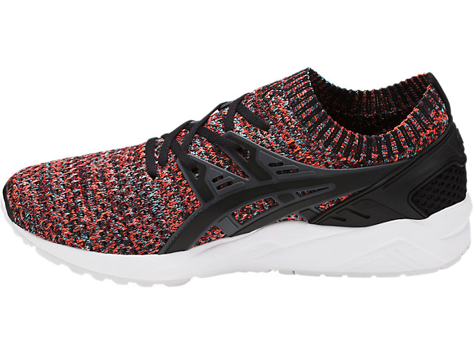 Left side view of GEL-KAYANO TRAINER KNIT, CARBON/BLACK