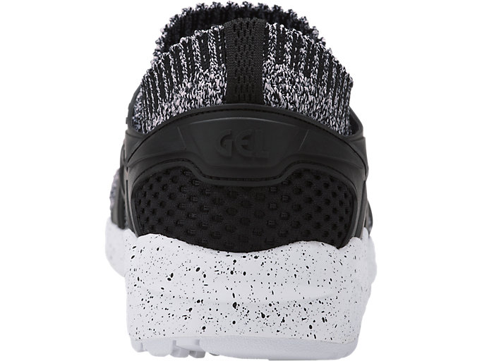 Back view of GEL-KAYANO TRAINER KNIT, WHITE/BLACK