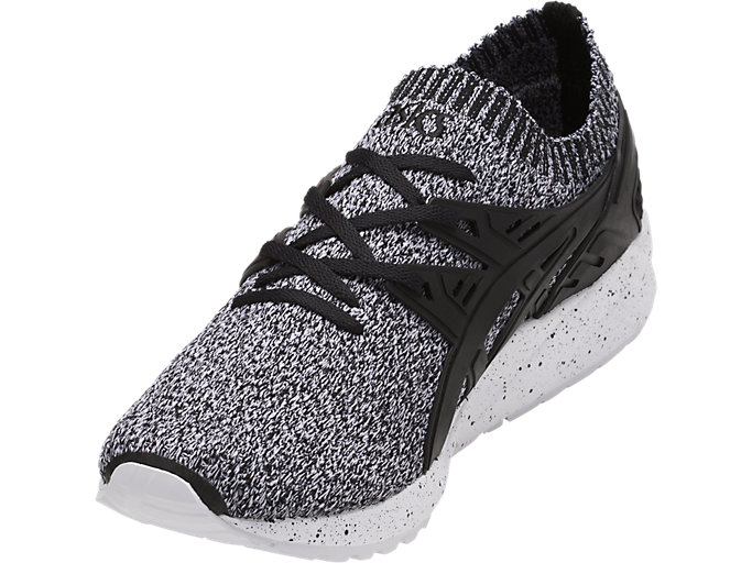 Front Left view of GEL-KAYANO TRAINER KNIT, WHITE/BLACK