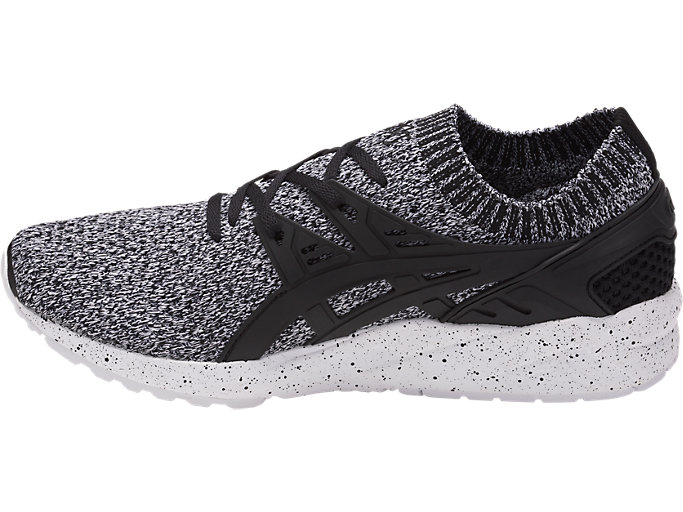 Left side view of GEL-KAYANO TRAINER KNIT, WHITE/BLACK