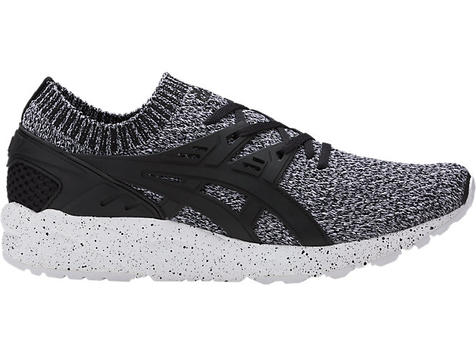 Right side view of GEL-KAYANO TRAINER KNIT, White/Black