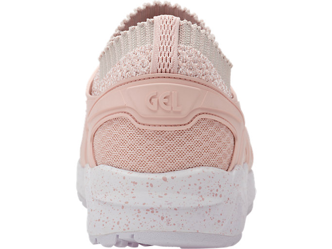 Back view of GEL-KAYANO TRAINER KNIT, EVENING SAND/EVENING SAND