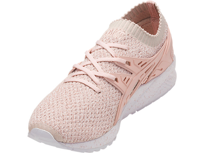 Front Left view of GEL-KAYANO TRAINER KNIT, EVENING SAND/EVENING SAND