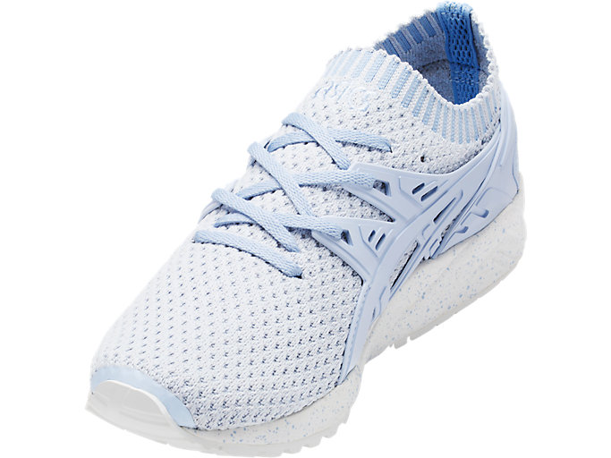 Front Left view of GEL-KAYANO TRAINER KNIT, SKYWAY/SKYWAY