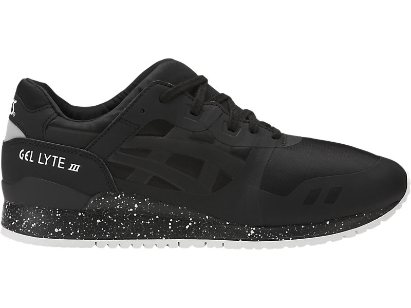 asics suede gel-lyte v trainers with metallic dots in black