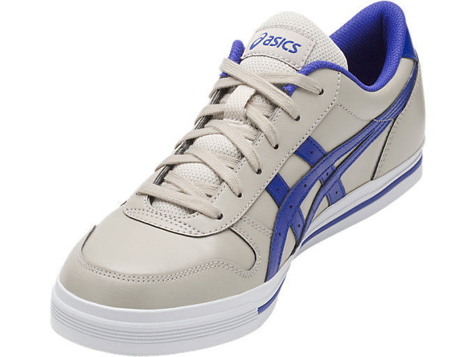 Front Left view of AARON, FEATHER GREY/ASICS BLUE