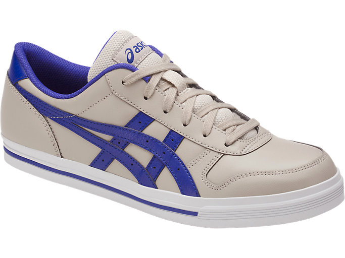 Front Right view of AARON, FEATHER GREY/ASICS BLUE