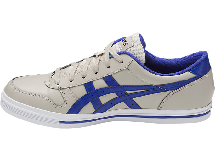 Left side view of AARON, FEATHER GREY/ASICS BLUE