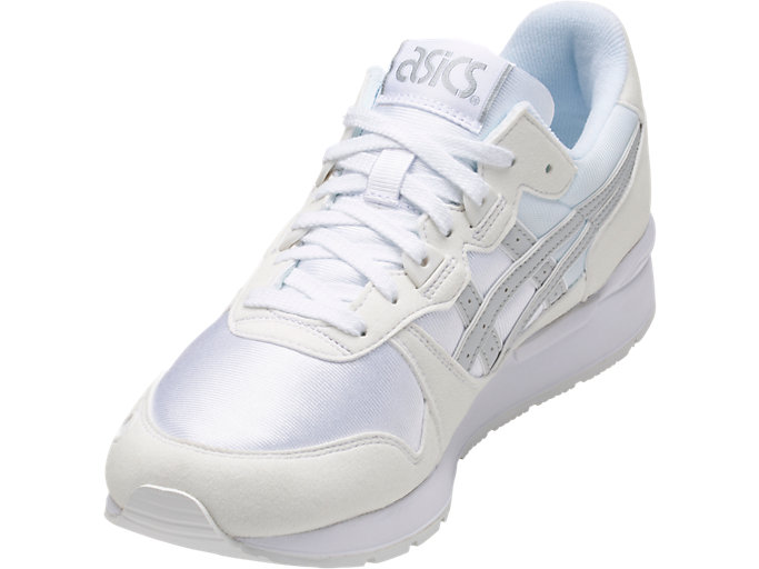Front Left view of GEL-LYTE, WHITE/GLACIER GREY