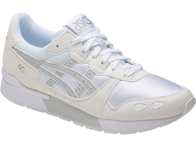 Front Right view of GEL-LYTE, WHITE/GLACIER GREY