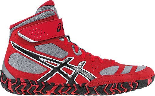 Men's Wrestling Shoes/Asics Aggressor2 Fire Red Black Graphite