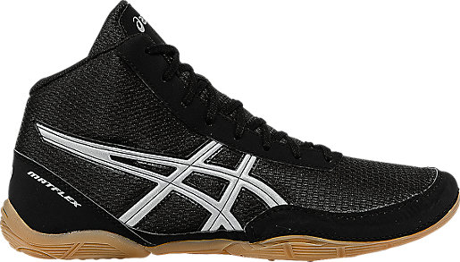 ASICS Matflex 5 - Black/Silver Wrestling Shoes