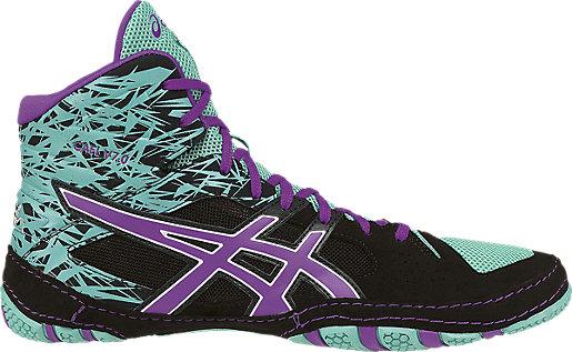 Asics Wrestling shoes Mens Black Turquoise Cael V7 0 Orchid