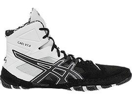 asics wrestling shoes black and white