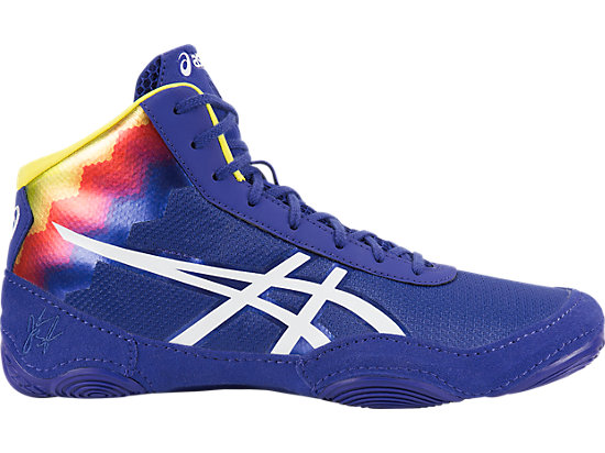 Blue And Gold Wrestling Shoes