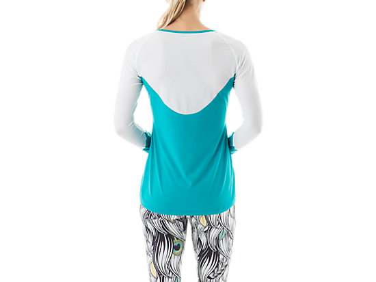 Long Sleeve Training Top Teal/White 7