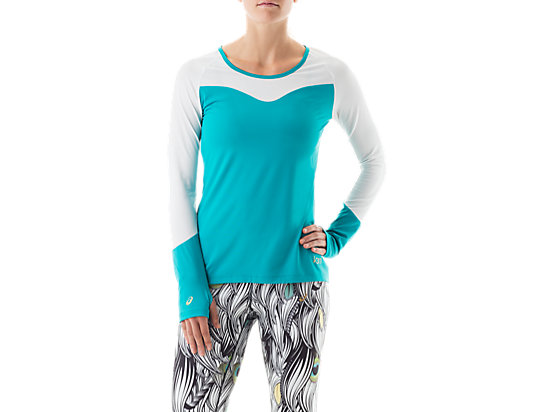 Long Sleeve Training Top Teal/White 3