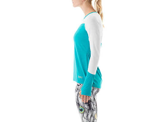 Long Sleeve Training Top Teal/White 11