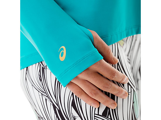Long Sleeve Training Top Teal/White 15