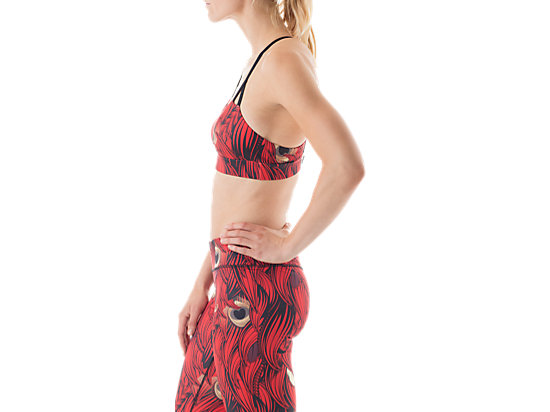 Printed Bra Top Red/Black 11