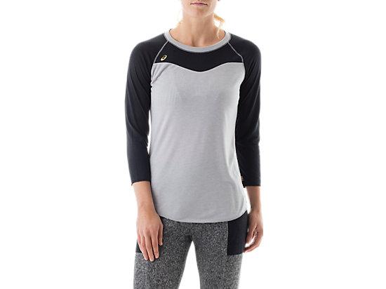 3/4 Sleeve Tee Black/Heather Grey 3