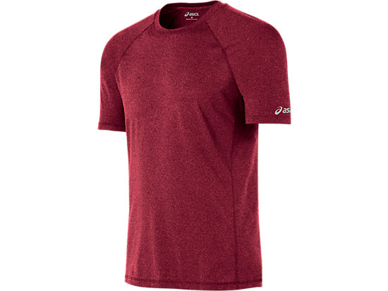 Everyday Tech Tee Pomegranate Heather 3