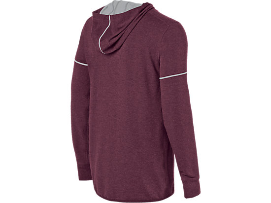 Lightweight Fleece Hoody Rioja Red Heather 7