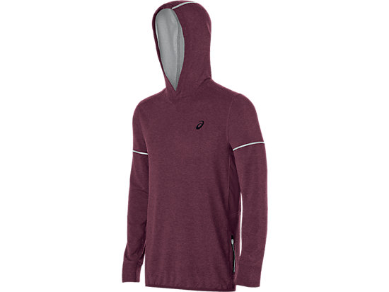 Lightweight Fleece Hoody Rioja Red Heather 3