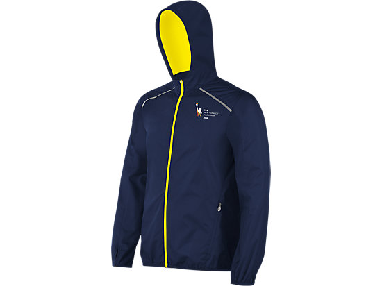 Marathon Hooded Spry Jacket Medieval Blue/Neon 3