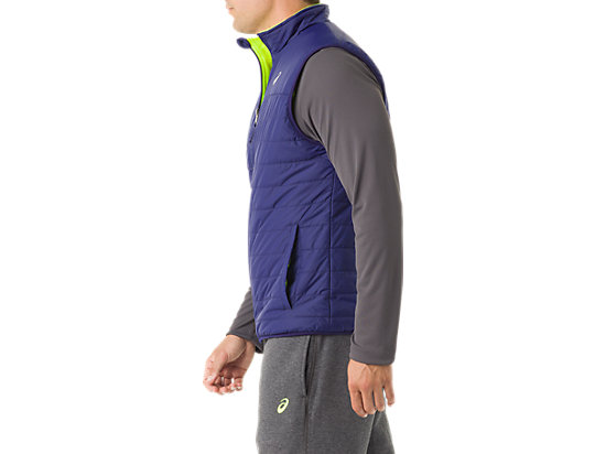 Mens Reversible Vest Indigo/Neon Yellow 11