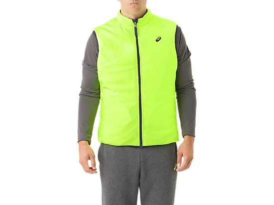 Mens Reversible Vest Indigo/Neon Yellow 15