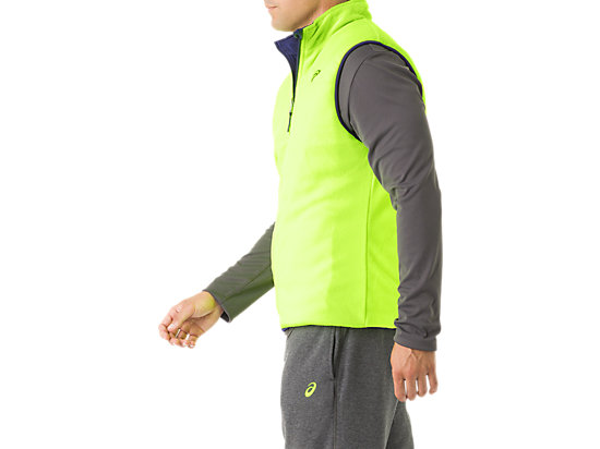 Mens Reversible Vest Indigo/Neon Yellow 23