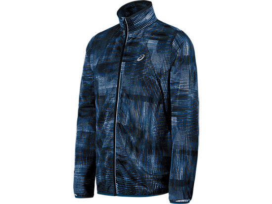 Lightweight Woven Jacket Poseidon Linear Blur 3