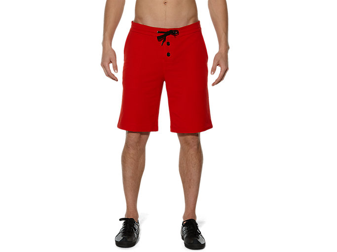 Front Top view of SWEAT SHORT PANT, Red