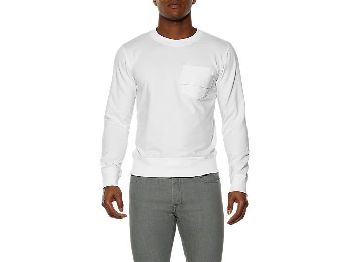 Front Top view of SWEAT SHIRT, White